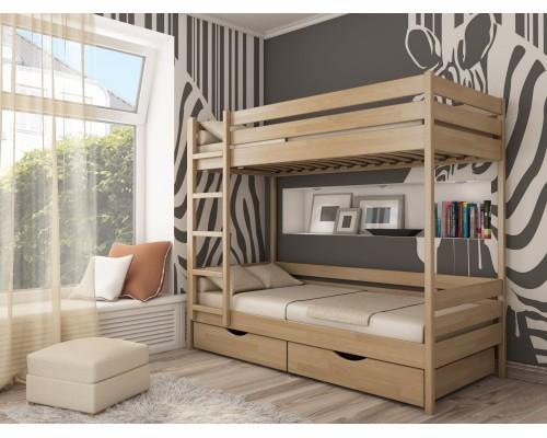 Кровать деревянная двухярусная №1